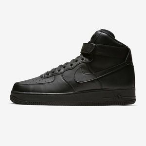 Black Air Force One High Top